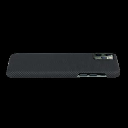 Husa Fibra Aramida Pitaka MagEZ Apple IPhone 11 Pro, Car Case Magnet Plain1