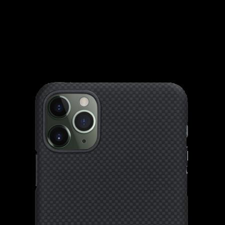 Husa Fibra Aramida Pitaka MagEZ Apple IPhone 11 Pro, Car Case Magnet Plain2