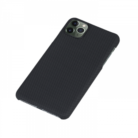 Husa Fibra Aramida Pitaka MagEZ Apple IPhone 11 Pro, Car Case Magnet Plain3
