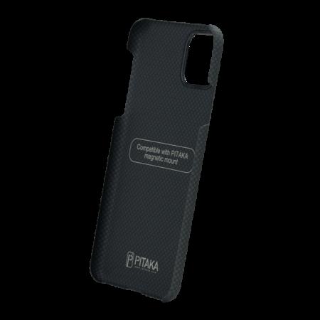 Husa Fibra Aramida Pitaka MagEZ Apple IPhone 11 Pro, Car Case Magnet Plain4