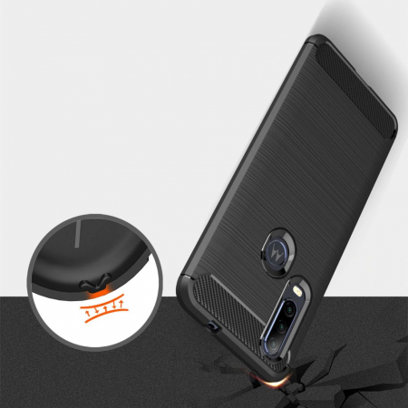 Husa Tech-Protect TPU carbon Motorola One Action [7]