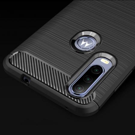 Husa Tech-Protect TPU carbon Motorola One Action [9]