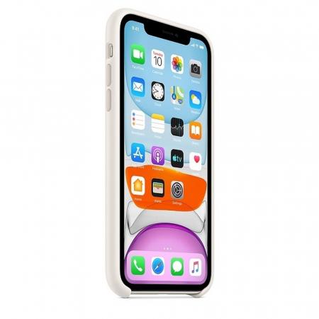 Husa Originala Silicone Case APPLE iPhone 11 Pro Max alb1