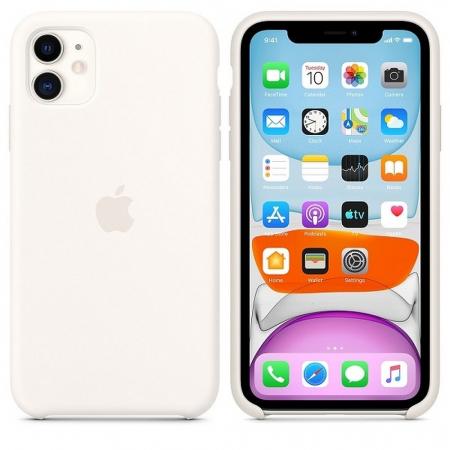 Husa Originala Silicone Case APPLE iPhone 11 Pro Max alb2