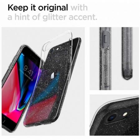 Carcasa Spigen Liquid Crystal Glitter iPhone 7/8 Crystal Quartz3