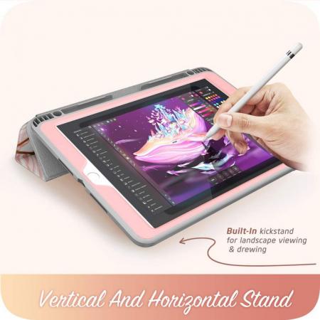 Husa Supcase Cosmo Pencil IPad 7/8 2019/2020 10.2 inch cu protectie display Marble [1]