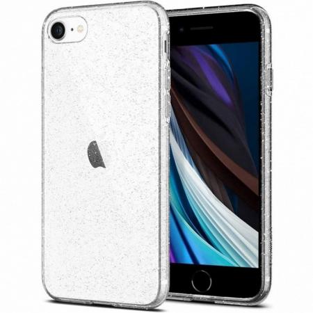 Carcasa Spigen Liquid Crystal Glitter iPhone 7/8 Crystal Quartz0