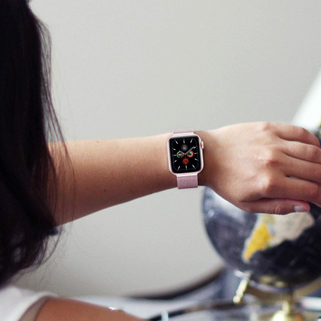 Curea otel inoxidabil Tech-Protect Milaneseband Apple Watch 38/40mm rose gold [1]