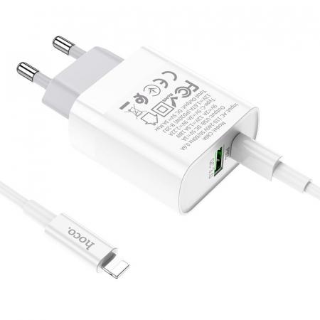 Incarcator retea Hoco C80A, USB/USB-C, Quick Charge 3.0, Power Delivery 20W [3]