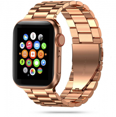 Curea otel inoxidabil Tech-Protect Stainless Apple Watch 1/2/3/4/5/6/SE (38/40mm) Rose Gold1