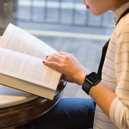 Bratara Tech-Protect Leatherfit Apple Watch 42/44mm [4]