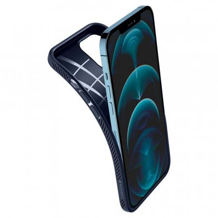 Husa Spigen Liquid Air IPhone 12/12 Pro albastru [4]