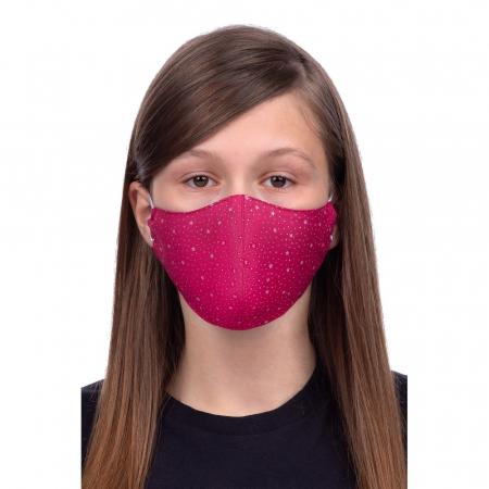 Masca  de protectie din material textil reutilizabila, bumbac 100%, roz0