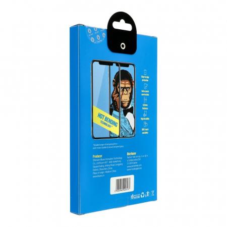 5D Mr. Monkey Glass - APP IPHO 11 Pro black (Hot Bending)4