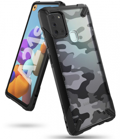 Husa Ringke Fusion X Samsung Galaxy A21s camo [6]