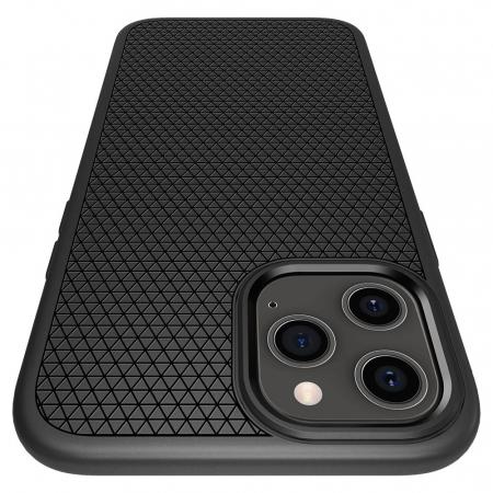 Carcasa Spigen Liquid Air iPhone 12 Pro Max Matte Black6