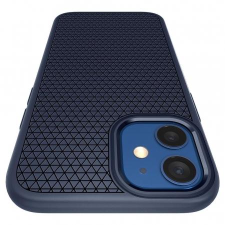 Carcasa Spigen Liquid Air iPhone 12 Mini Navy Blue6