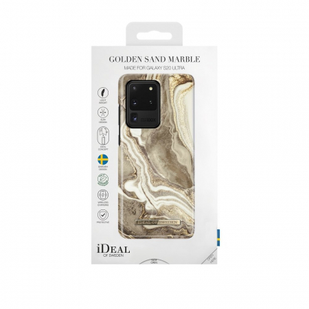 HUSA iDeal of Sweden for Samsung S20 ULTRA Golden Sand Marble1