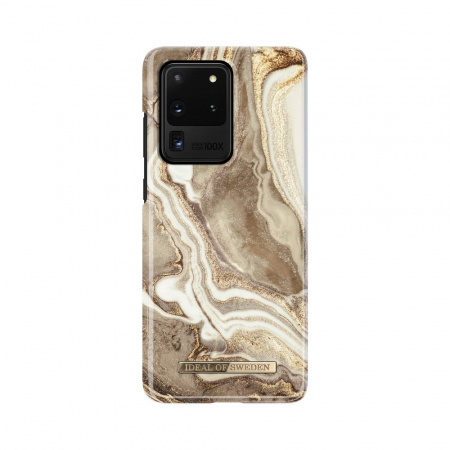 HUSA iDeal of Sweden for Samsung S20 ULTRA Golden Sand Marble0