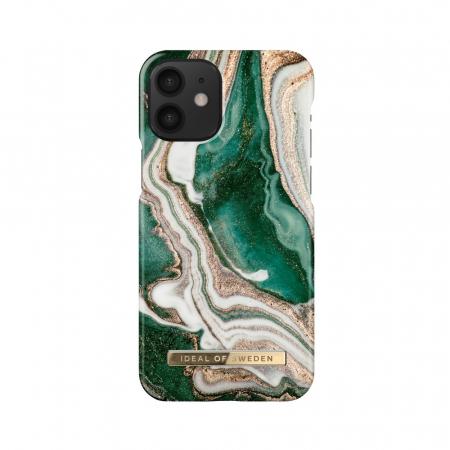 Husa Ideal Of Sweden IPhone 12 Mini Golden Jade Marble0