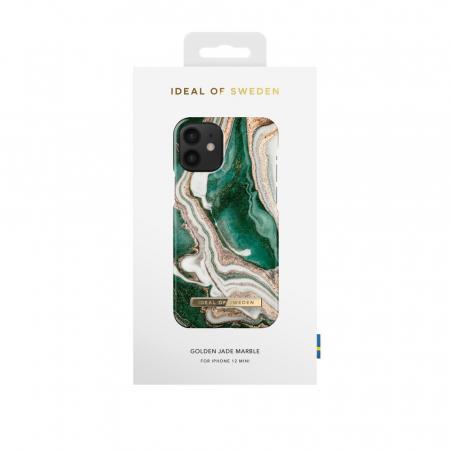 Husa Ideal Of Sweden IPhone 12 Mini Golden Jade Marble2