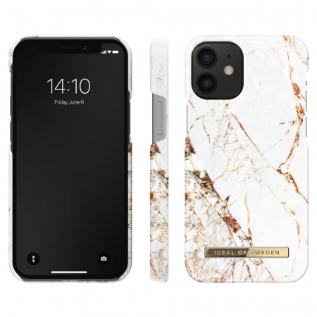 Husa Ideal Of Sweden IPhone 12 Mini Carrara Gold1