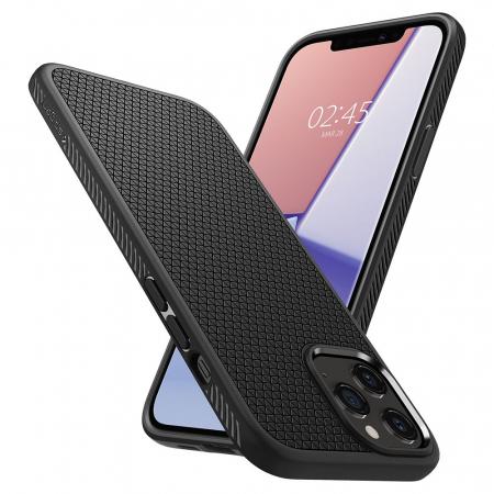 Carcasa Spigen Liquid Air iPhone 12 Pro Max Matte Black7