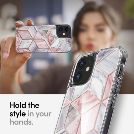 Husa Spigen Ciel Iphone 12 Mini (5.4) Pink Marble7