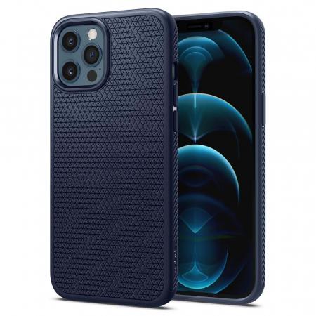 Husa Spigen Liquid Air IPhone 12/12 Pro albastru [7]