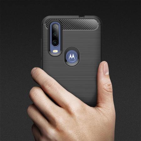 Husa Tech-Protect TPU carbon Motorola One Action [3]