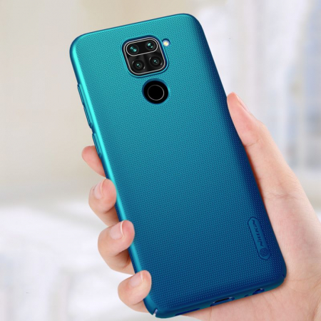 Husa Nillkin Frosted Xiaomi Redmi Note 9 albastru [2]