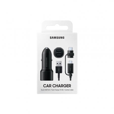 Incarcator auto Samsung Dual Car Charger (15W+15W, 2 Port, EP-L1100) + Combo Cable4