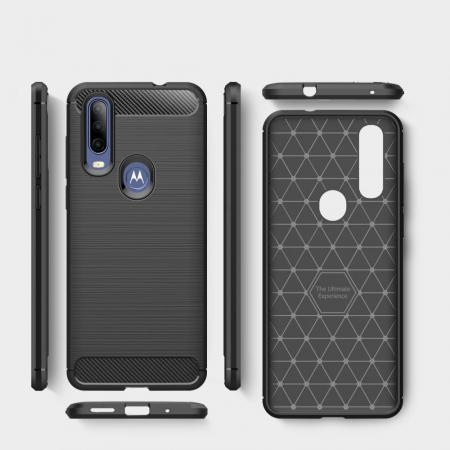 Husa Tech-Protect TPU carbon Motorola One Action [4]