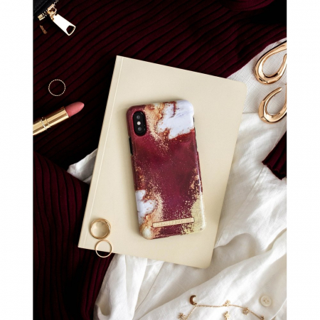 Husa Ideal Of Sweden Samsung Galaxy S10 Plus Golden Burgundy Marble [3]
