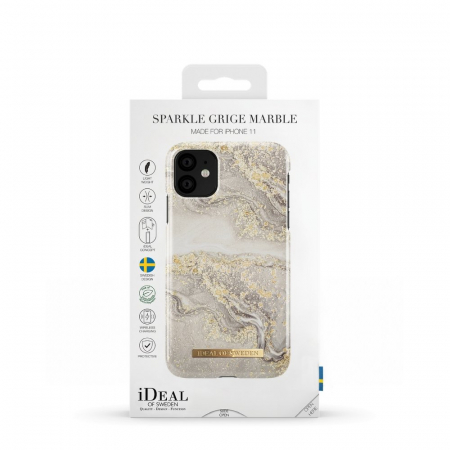 Husa Ideal Of Sweden IPhone 11 Pro Max Sparkle Greige Marble2