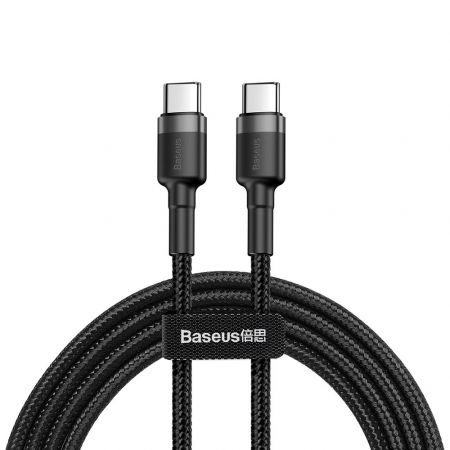 BASEUS cable Cafule Type C 3A 1M gray+black CATKLF-GG10