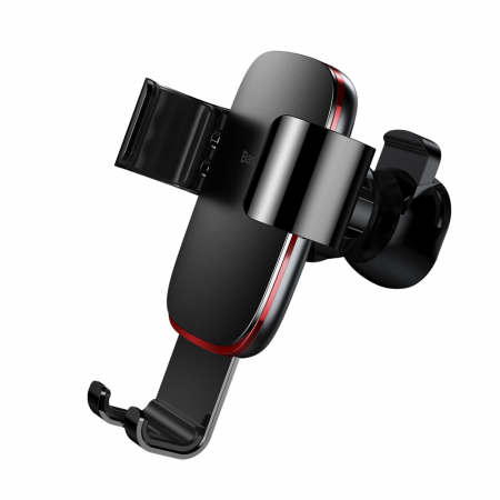 Baseus Metal Age Gravity Car Mount Phone Holder for Air Outlet black (SUYL-D01)2