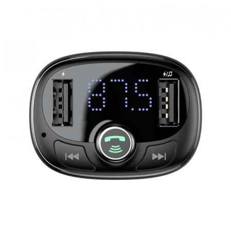 Iincarcator auto Baseus transmitator FM bluetooth USB microSD 2xUSB 3.4A [2]