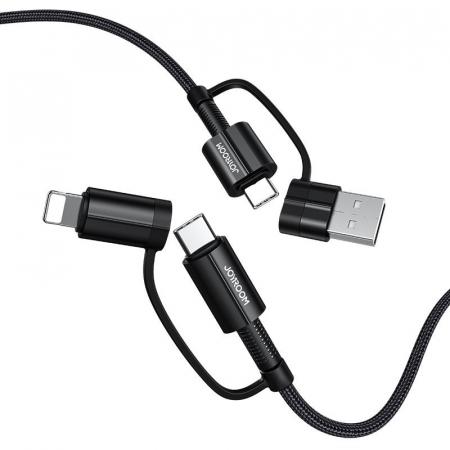 Cablu Joyroom 4 in1 - USB Type C / USB - USB Type C / Lithtning  3 A 1,8 m [6]