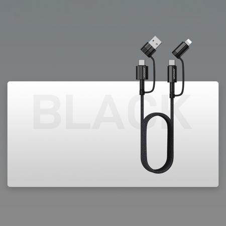 Cablu Joyroom 4 in1 - USB Type C / USB - USB Type C / Lithtning  3 A 1,8 m [7]