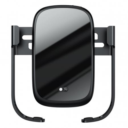 Suport auto Baseus 5in1  Wireless 10 W Qi Charger + incarcator auto + 2 prinderi +  cablu micro USB WXHW01-B010