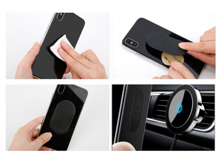 Suport auto magnetic Baseus Big Ears incarcare wireless QI [7]