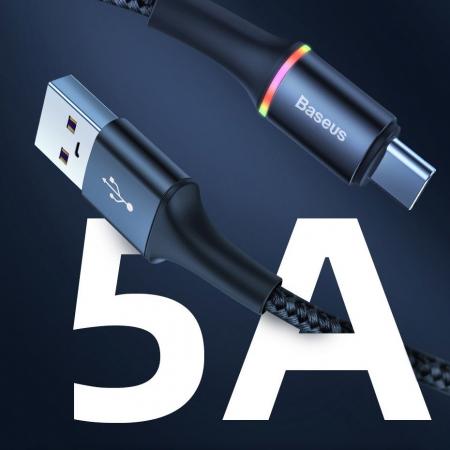 Cablu Baseus Halo type C Led 5A 40W 1m CATGH-G01 [6]