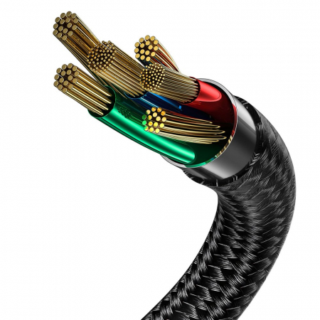 Cablu Baseus Halo type C Led 5A 40W 1m CATGH-G01 [3]