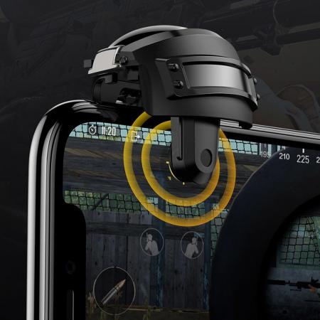 Grip-uri Baseus Level 3 Helmet PUBG Extra Buttons Camouflage blue (GMGA03-A03)5