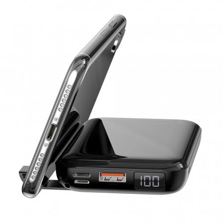 'Baterie externa Baseus Mini S Bracket incarcare QI wireless 10000MAH' [3]