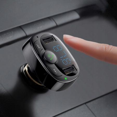 Incarcator auto Baseus T-Typed modulator FM 2xUSB CCTM-01 3.4A [9]