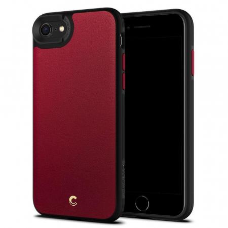 Carcasa Spigen Ciel Leather Brick iPhone 7/8/SE 2020 Red0
