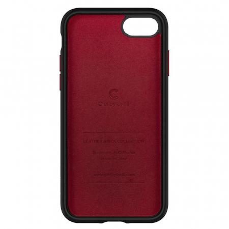 Carcasa Spigen Ciel Leather Brick iPhone 7/8/SE 2020 Red1