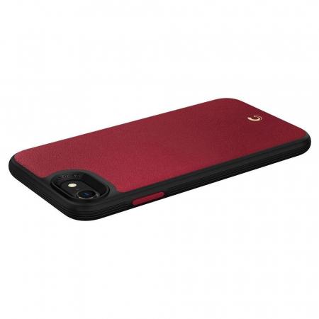 Carcasa Spigen Ciel Leather Brick iPhone 7/8/SE 2020 Red3